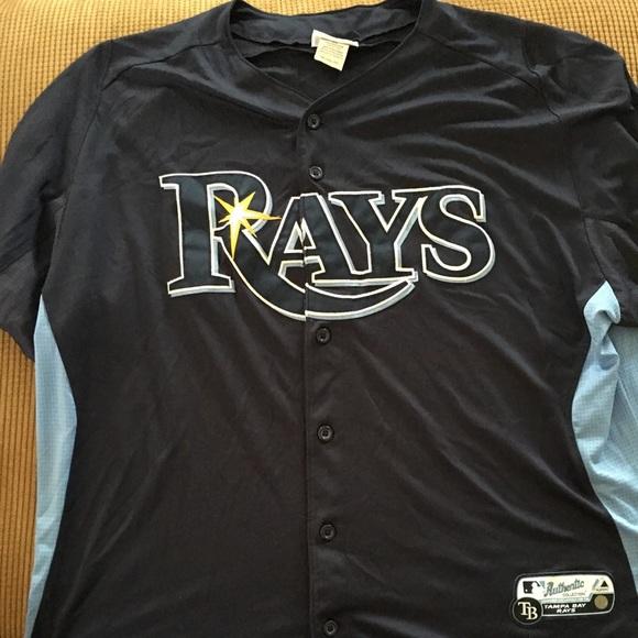super popular 80eea 01783 Tampa Bay rays baseball jersey MLB authentic 2XL